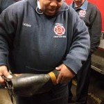 holes in boot Detroit Firefighters